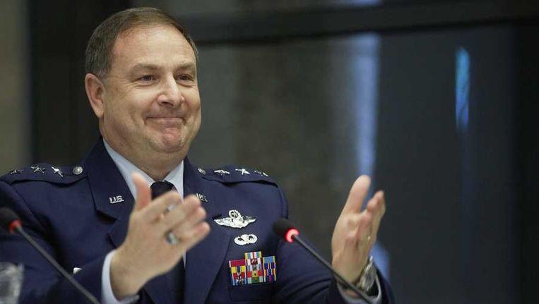 De Amerikaanse generaal die leiding geeft aan de ontwikkeling van de JSF Christopher Bogdan. Beeld anp
