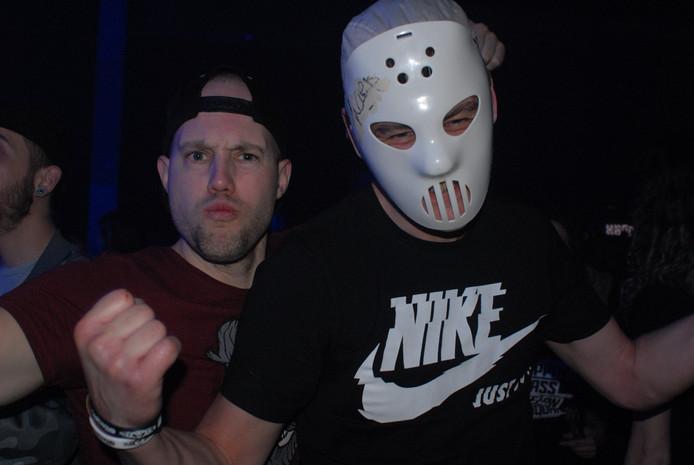 Fans van Angerfist zijn te herkennen aan de typische maskers a la Hannibal Lecter
