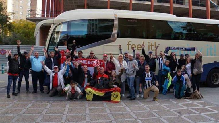 Ook in Benidorm en Calpe volgen Antwerp-fans de ploeg van RAFC.