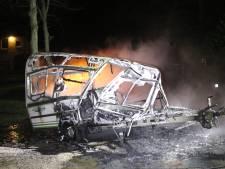 Caravan uitgebrand in Harskamp