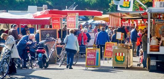 De versmarkt op Terwaenen blijft ook in de nieuwe opzet gewoon op z'n plek.