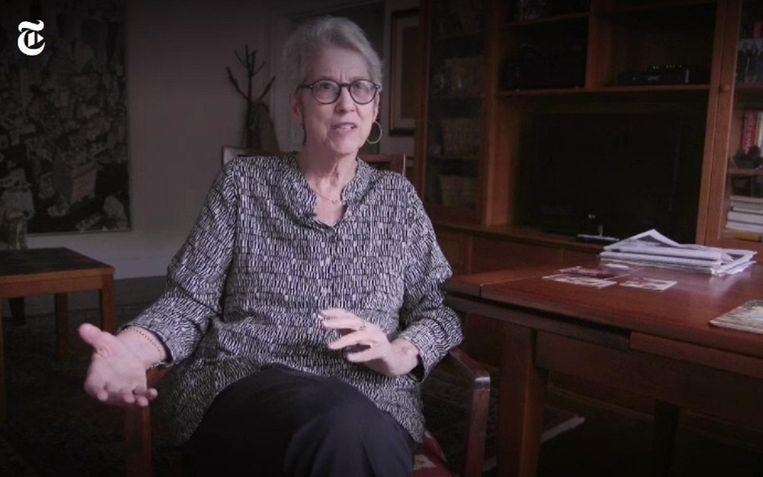 Jessica Leeds, een beeld uit een video van The New York Times. Beeld NYT screen shot