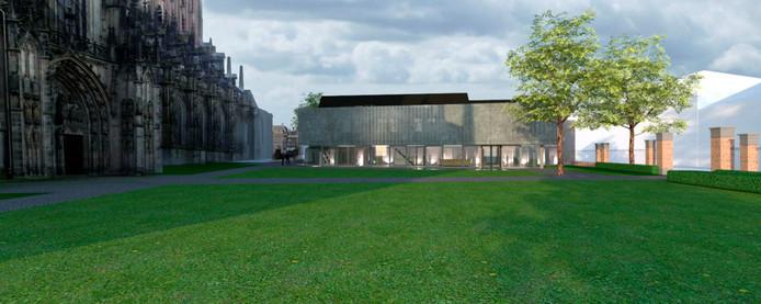 Een afbeelding van hoe het nieuwe Sint-Jansmuseum er uit had kunnen zien.