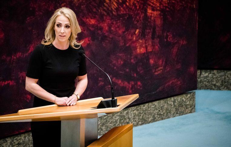 Lilian Marijnissen (SP) tijdens een Tweede Kamerdebat. Beeld ANP