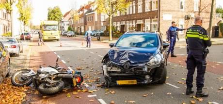Motorrijder gewond aan been door ongeval in Eindhoven