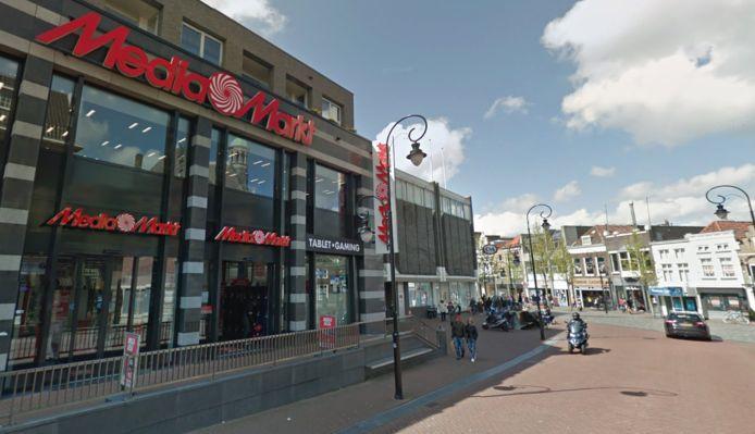 De MediaMarkt aan de Johan de Wittstraat in Dordrecht