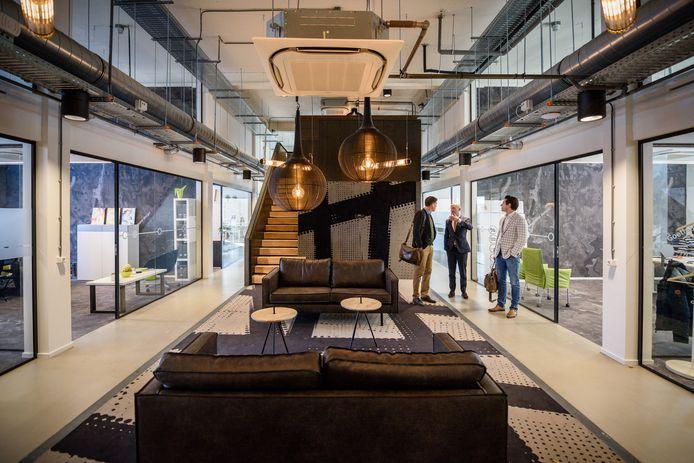 Deel van het interieur van ondernemershuis Station88 in Tilburg. Waarschijnlijk krijgt MakerSpace hier onderdak.