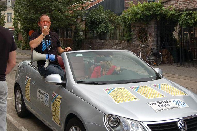 In de beginjaren trok Geert Faes in een cabrio en met een megafoon door Eeklo, om reclame te maken voor wat toen nog het Bakfietsfestival heette.