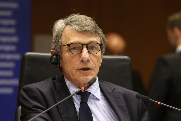 De Europese parlementsvoorzitter David Sassoli.