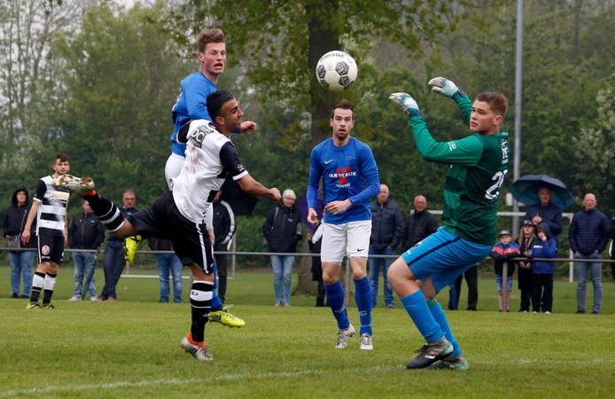 Handenbinders Cyriel van der Veen en Erwin Roks kunnen komend weekeinde met hun club Hoeven het eerste kampioenschap in 25 jaar behalen.