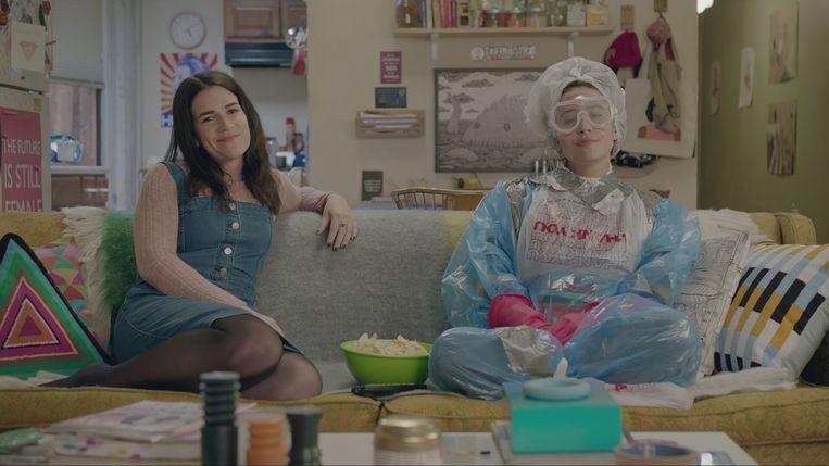 Abbi Jacobson en Ilana Glazer in de komedieserie 'Broad City'. Beeld Comedy Central