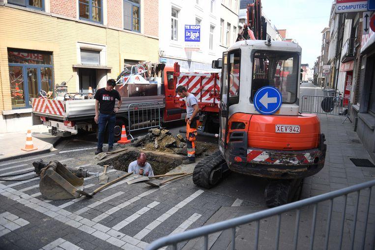 In juni 2017 was er ook al een wegverzakking in de Tiensestraat.