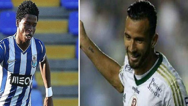 Mikel Agu (l) en Leandro 'Banana' Pereira.