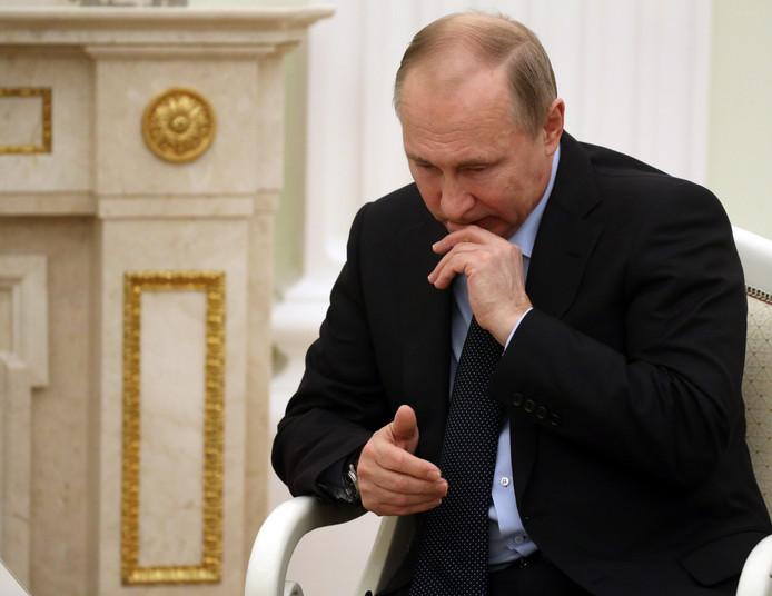 Vladimir Poetin is duidelijk niet in beste doen.