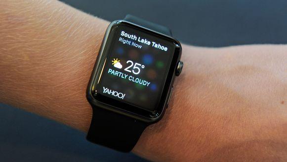 Vooral weer-apps voor de Apple Watch zijn populair.
