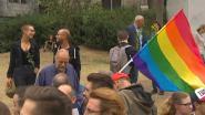 Mensen protesteren tegen homogeweld in Gent