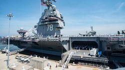 """""""Onze vijanden zullen beven van angst"""": Trump lanceert oorlogsschip van 11 miljard dat 20 jaar kan varen zonder extra brandstof"""