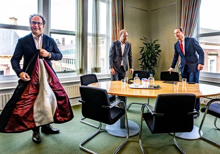 Wouter Koolmees, Gijs van Dijk en Lodewijk Asscher. Beeld Raymond Rutting / De Volkskrant