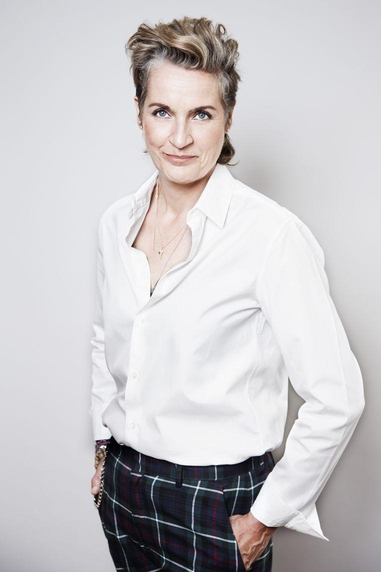 Margriet van der Linden: 'Net als van iedereen wordt van ons lenigheid verwacht.' Beeld Ernst Coppejans