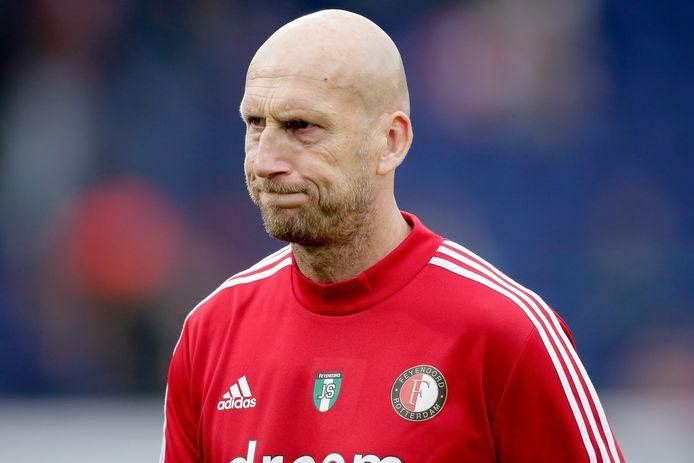 Jaap Stam tijdens de oefenwedstrijd tegen Southampton.
