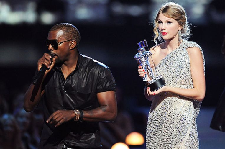 Kanye West en Taylor Swift hebben al jarenlang ruzie.