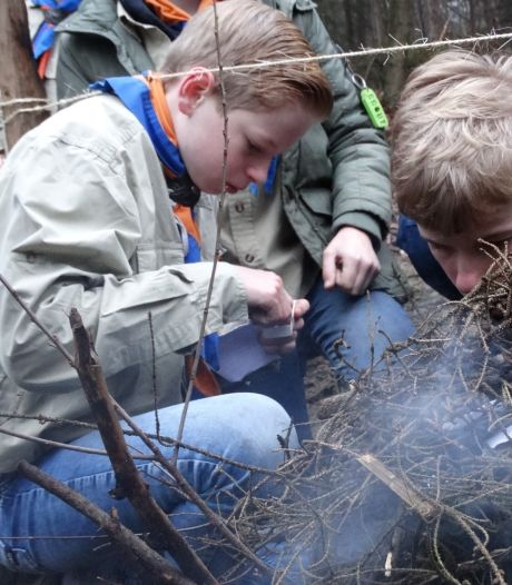 Scoutinggroep uit Rijssen vindt toch manier om 70ste verjaardag te vieren