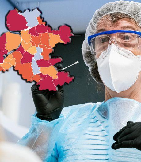 KAART | Flink minder besmettingen in regio door storing, maar Flevoland is de uitzondering
