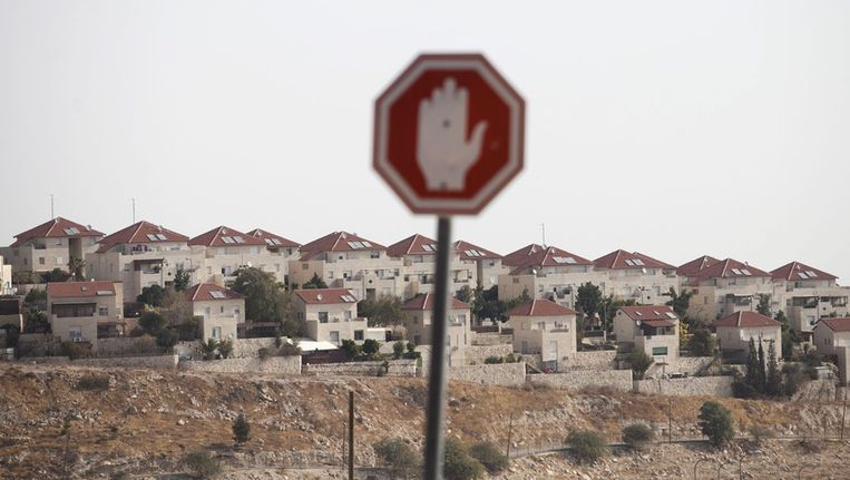 De Israëlische nederzetting Ma'ale Adumim op de Westelijke Jordaanoever. Beeld EPA