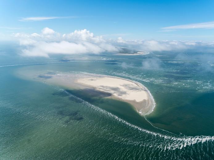 De Robbenbank vanuit de lucht, foto ter illustratie