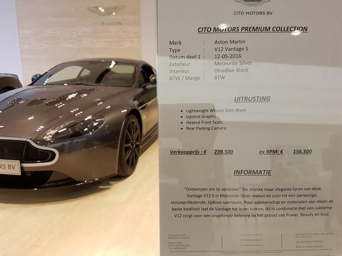 De Aston Martin V12 Vantage S staat te koop bij Cito Motors in Eindhoven