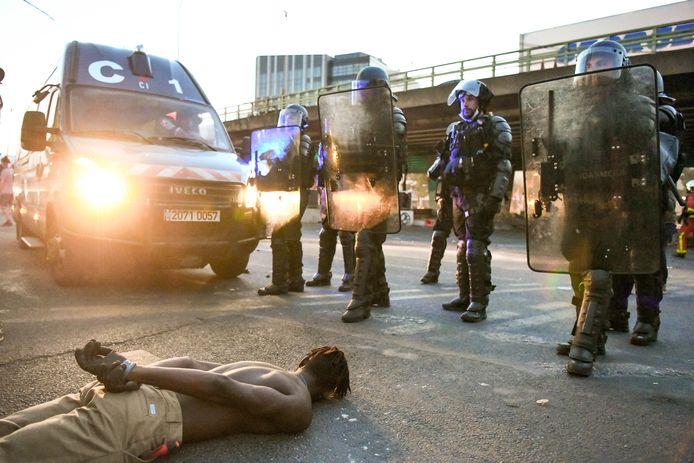 Incidents lors de la manifestation de soutien à Adama Traoré devant le tribunal de Paris le 2 juin 2020.