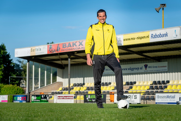 NSV-verdediger en toekomstig boer Maarten Rockx.