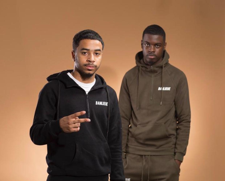 Rappers Qlas (links) en Blacka.