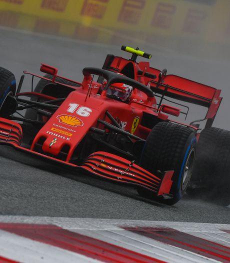 Ferrari-coureur Leclerc drie plaatsen naar achteren door straf