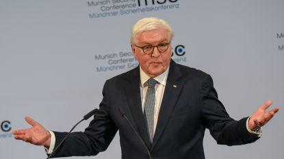 """Duitse president waarschuwt voor """"donkerdere tijden"""" en wijst naar Rusland, China en VS"""