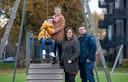 Wilbert van Dam en Joyce ter haar met hun kinderen Ninthe en Noah.
