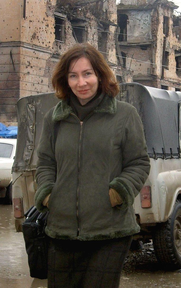 Mensenrechtenactiviste Natalja Estemirova werd in 2009 ontvoerd en kort daarna dood teruggevonden. Beeld AFP