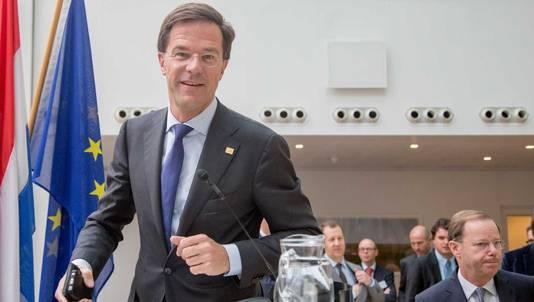 Mark Rutte tijdens een EU-top