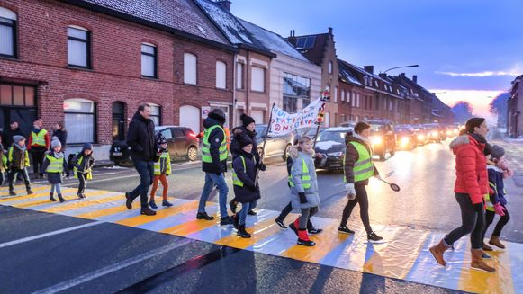 Vorige week vond er nog een actie plaats op de Meenseweg.