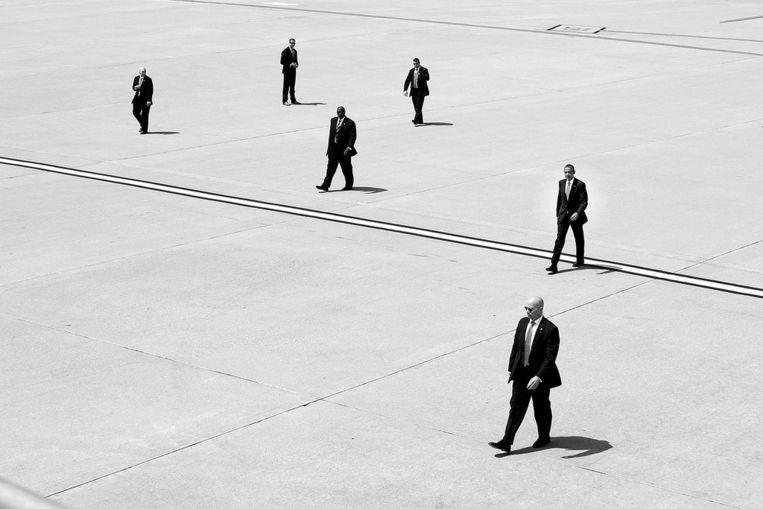 De Secret Service heeft, naast het beveiligen van de president, ook als taak om valsmunterij te bestrijden. De laatste keer dat werd geprobeerd een Amerikaanse president te vermoorden, was in 1981. Beeld White House Photo