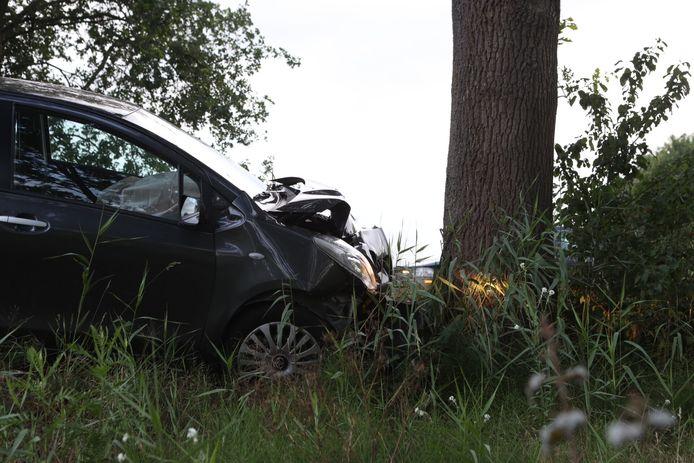Auto botst tegen boom in Veghel