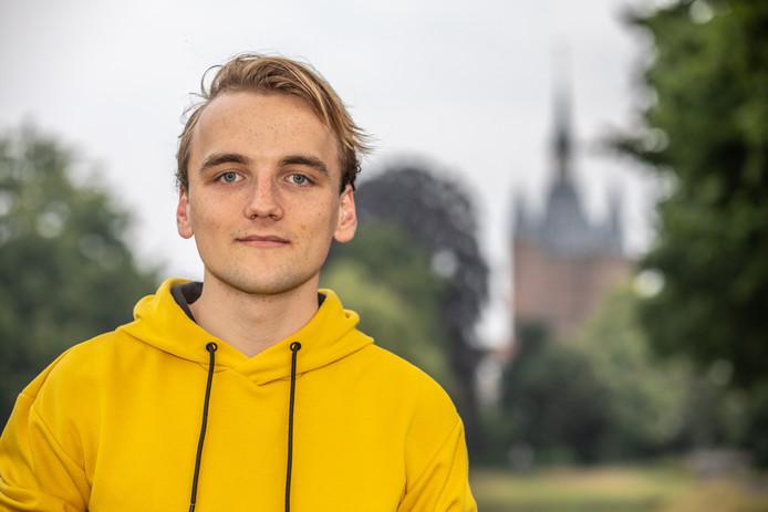 Jesse Koops uit Zwolle, de nieuwe voorzitter van de Jonge Socialisten
