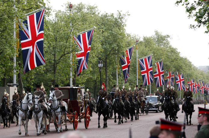 Een politie-escorte van William en Kate (foto ter illustratie)
