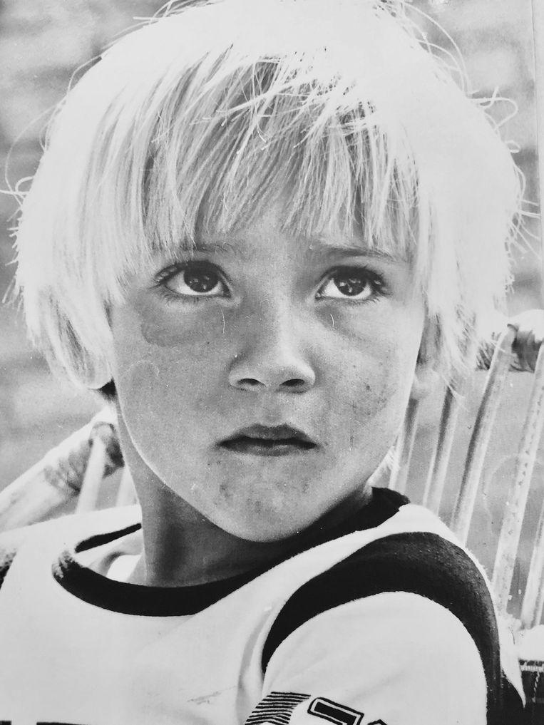 Victor van Bommel als kind. Beeld