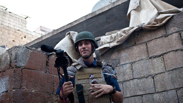 De Amerikaanse fotojournalist James Foley, die vorige week in een onthoofdingsfilmpje opdook. Beeld anp
