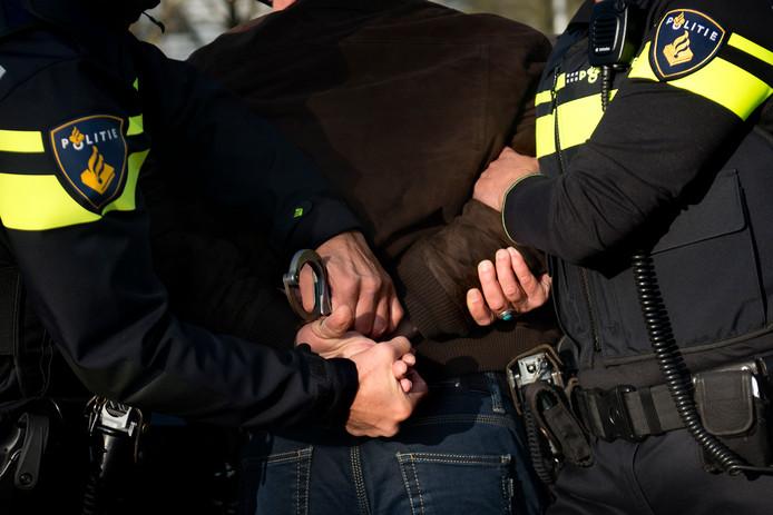 Stockfoto Politie aanhouding