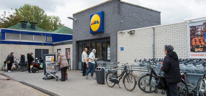 De Lidl-vestiging in Waalwijk.