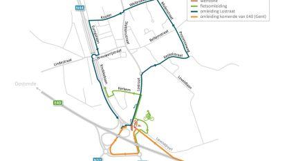 E40 afrit Aalter: verkeer vanuit Gent maakt nieuwe lus op einde afrit