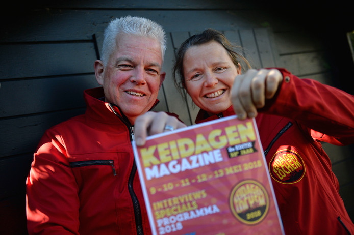 Gerjan Vorkink en Barber van Leeuwen van de Keidagen-organisatie. Het Lochemse evenement kent dit jaar enkele noviteiten.