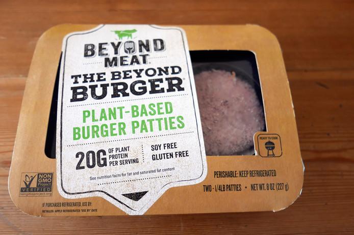 De plantaardige PLT-burgers van Beyond Meat waarmee McDonald's een test gaat uitvoeren.